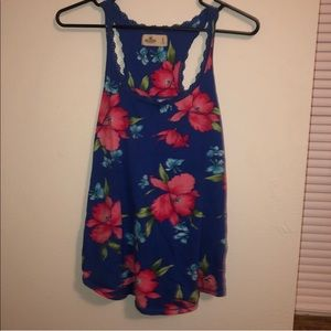 HOLLISTER FLORAL Size Small Tank Top